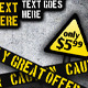 Caution Grunge Banner Set - GraphicRiver Item for Sale