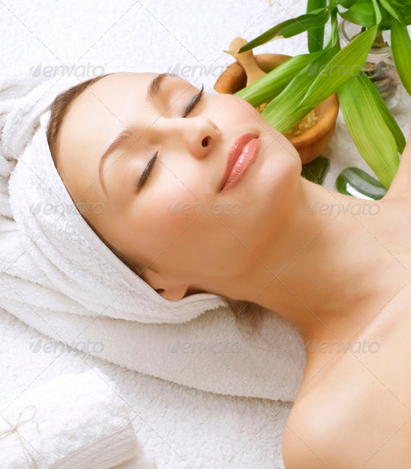 Beautiful Spa Woman. Clean Skin - Stock Photo - Images