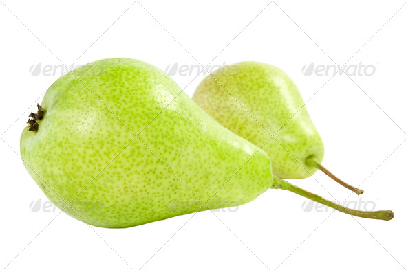 Two Pears Isolated On White - Stock Photo - Images