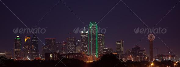PhotoDune Dallas Skyline at Dusk 1594325