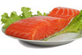 Salted salmon on salad leaves - PhotoDune Item for Sale