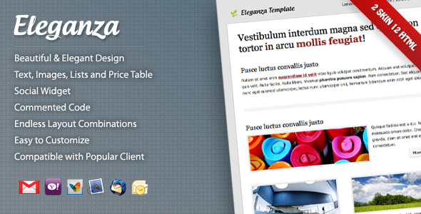 ThemeForest Eleganza Email Template 532173