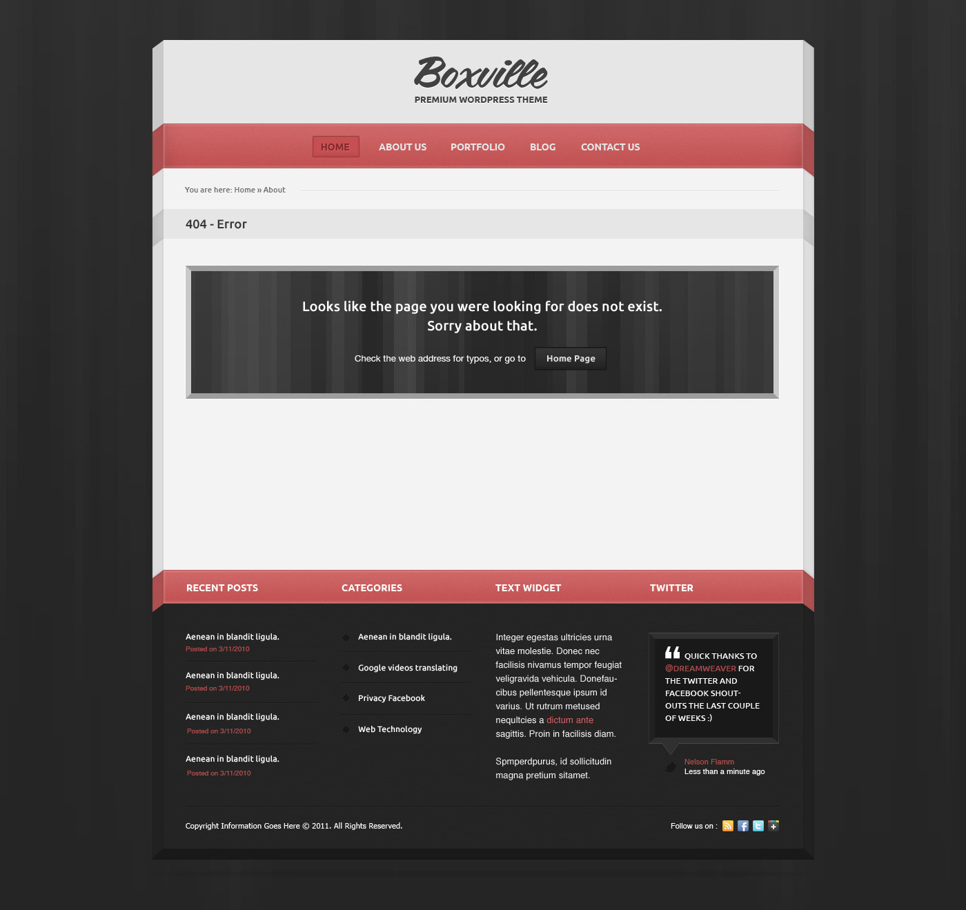 Boxville Unique WordPress Theme