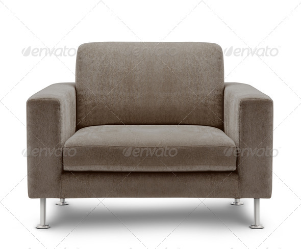 sofa furniture isolated on white background - Stock Photo - Images