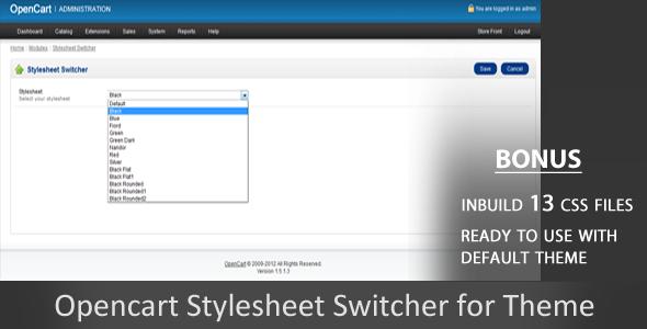 CodeCanyon Stylesheet Switcher Opencart Module 1598755