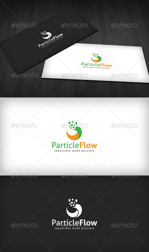 Particle Flow Logo - Vector Abstract