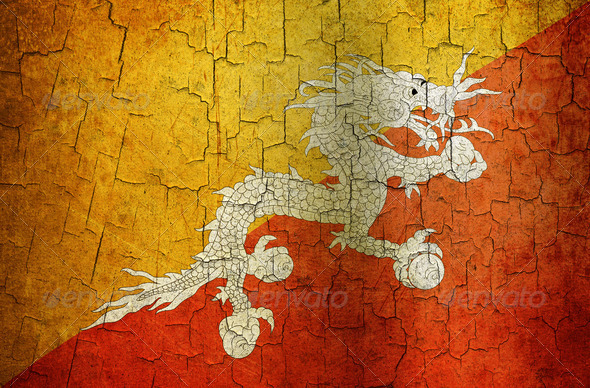 Grunge Bhutan flag - Stock Photo - Images