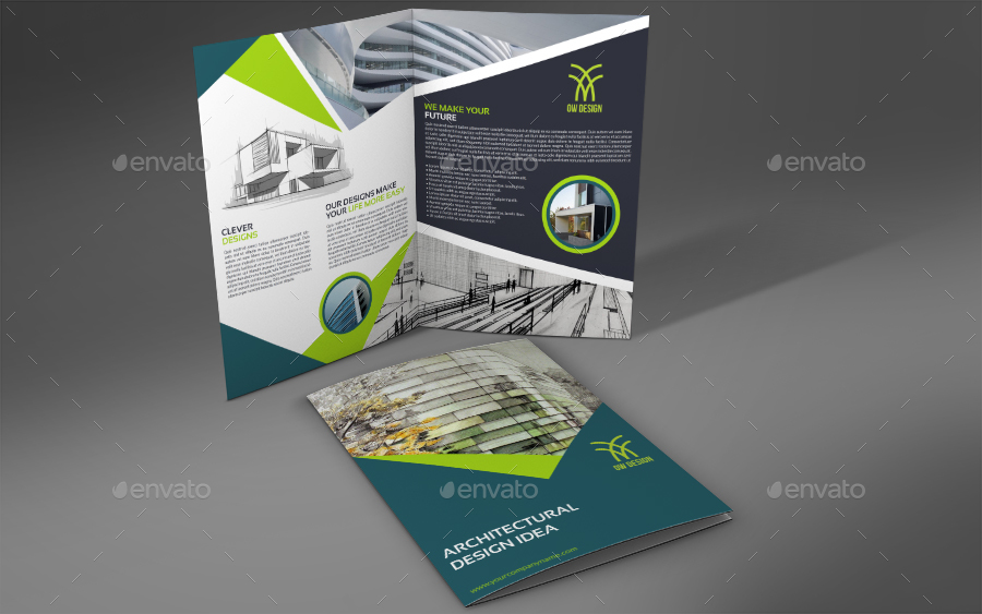 Minimal Architecture Brochure Design Template in PSD Word