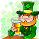 Vector St. Patrick's Day Leprechaun Drinks Beer - GraphicRiver Item for Sale