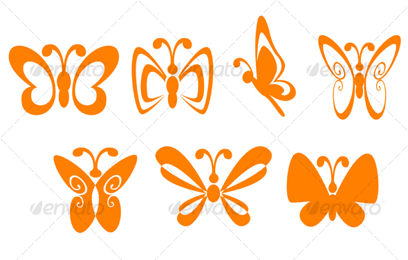 Butterfly set GraphicRiver - Vectors -  Decorative 62694