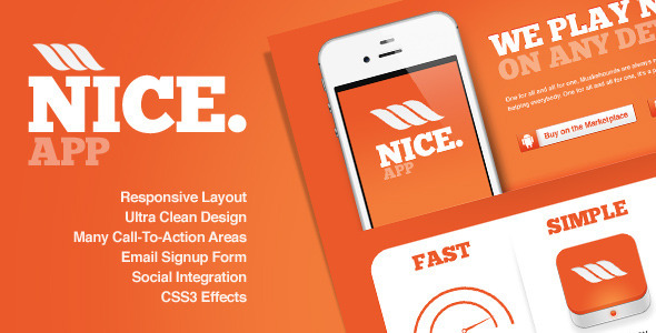 ThemeForest Nice app Responsive Landing Page 1602184