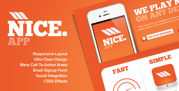 Nice app - Responsive Landing Page