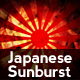 Grunge Japanese Sunburst Background - GraphicRiver Item for Sale