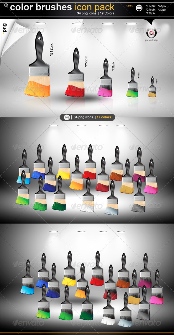 Color Brushes  - Objects Icons