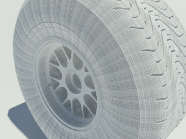 3DOcean Pirelli intermediate tyre 1605104