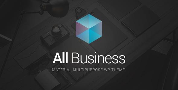 All Business - Corporate & Company Material Design WordPress Theme ...