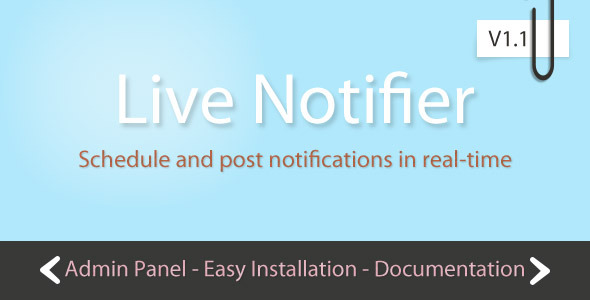 CodeCanyon Live Notifier with Scheduler 1578906
