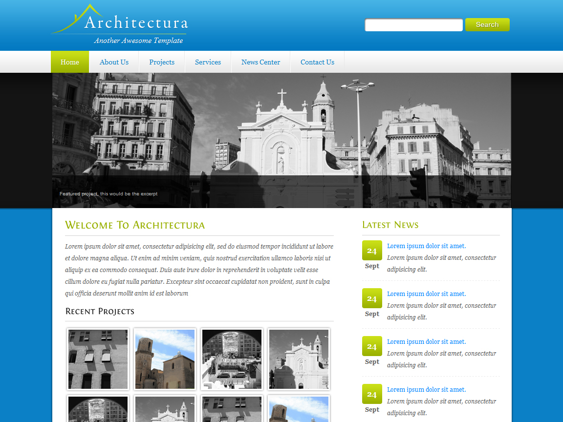 Architectura - 4 in 1 Clean HTML/CSS
