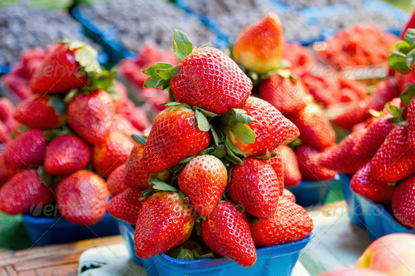Sweet Ripe Red Strawberries - Stock Photo - Images
