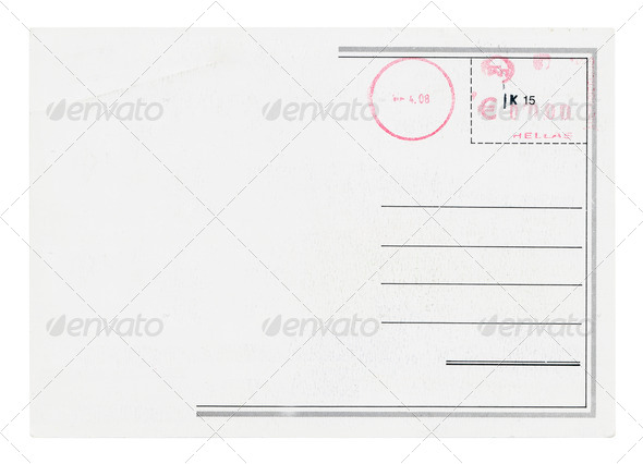 Postcard Isolated - Stock Photo - Images
