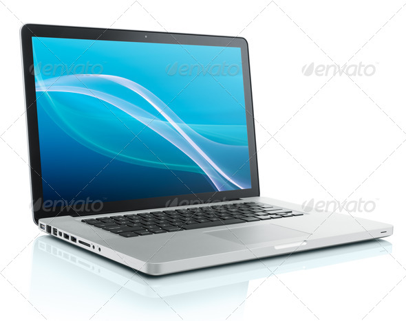 computer laptop - Stock Photo - Images