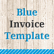 Blue Invoice Template - GraphicRiver Item for Sale