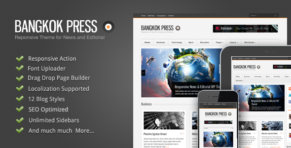 Bangkok Press - A New Responsive, News & Editorial Premium WordPress Theme