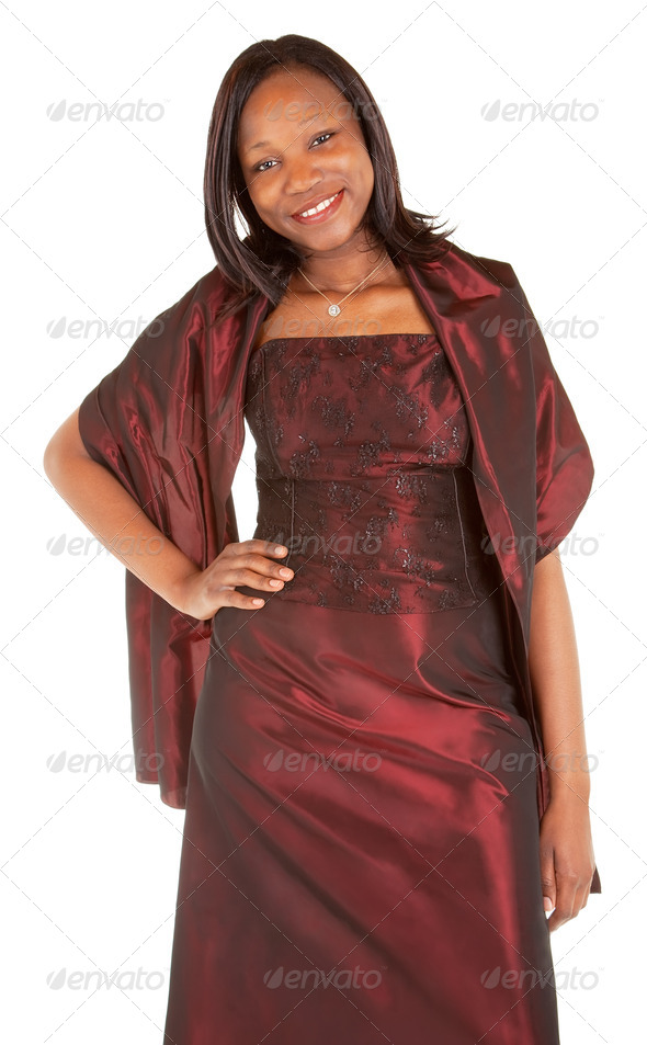 Beautiful African American Lady - Stock Photo - Images