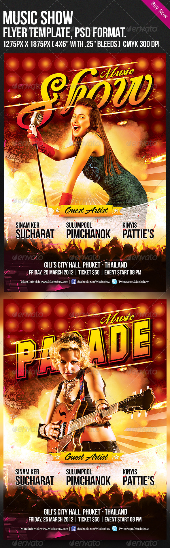 Music Show Flyer Template - Clubs & Parties Events
