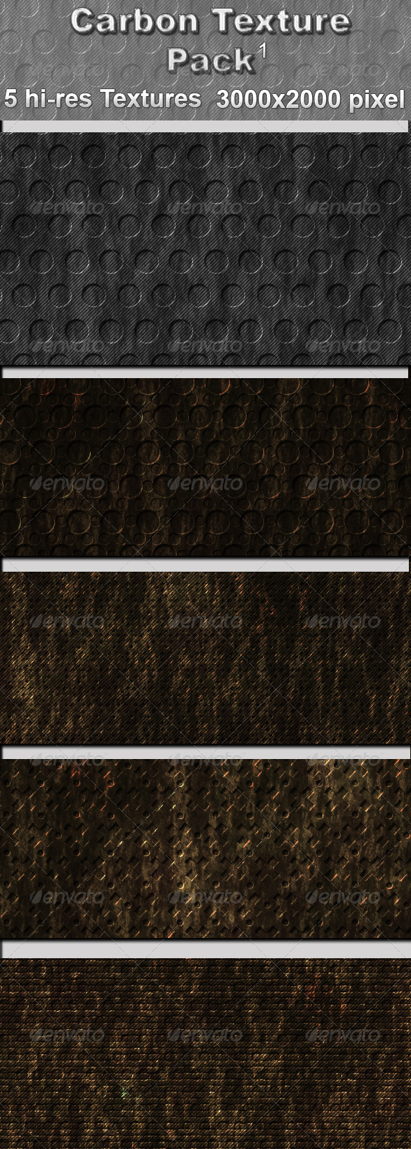 Carbon Texture Pack - 1 - Metal Textures