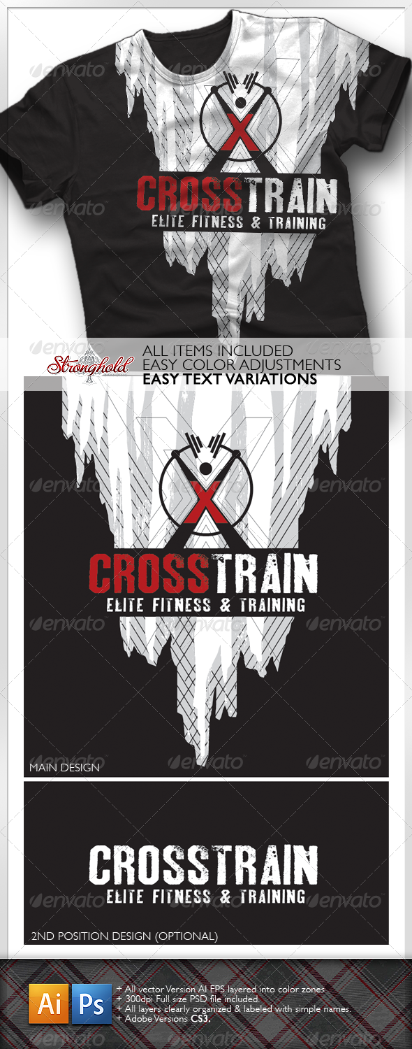 GraphicRiver Cross Training T-Shirt 1616488
