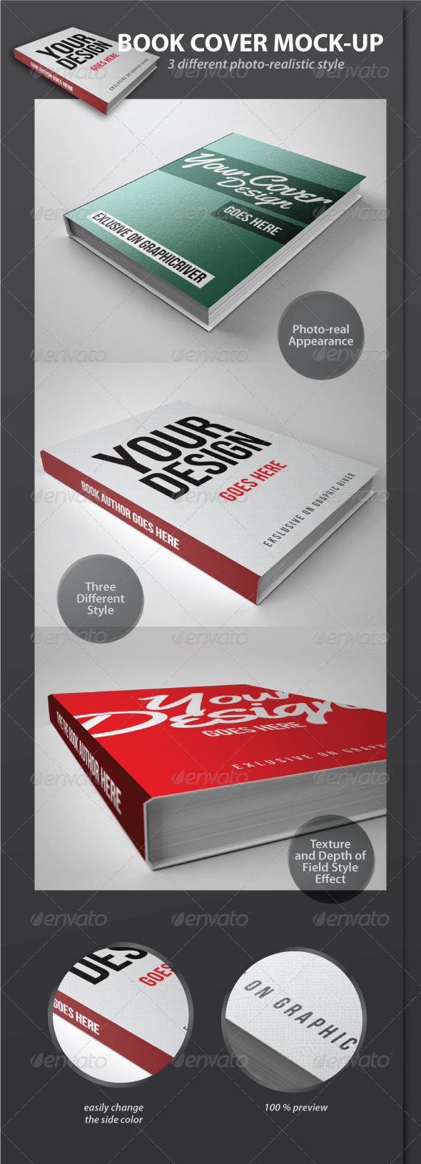 Book Cover Graphicriver : Book cover mock up graphicriver maydesk