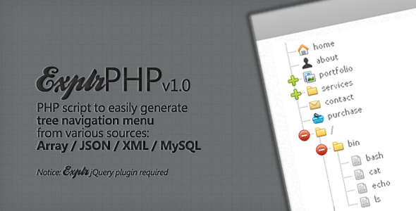 CodeCanyon ExplrPHP Easy Tree Navigation Menu 1409230