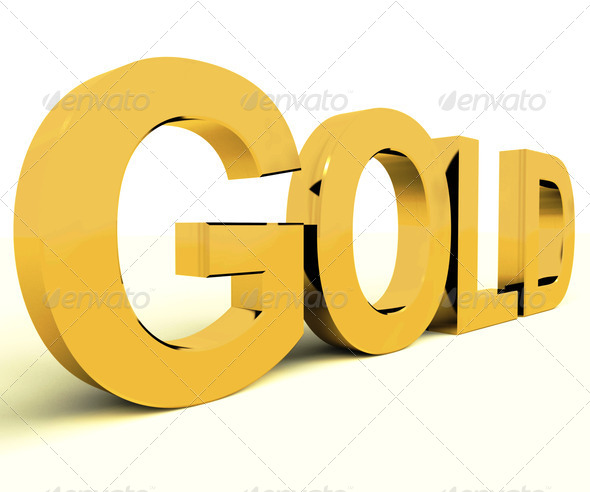 Gold Letters As Symbol For Wealth Or Riches - Stock Photo - Images