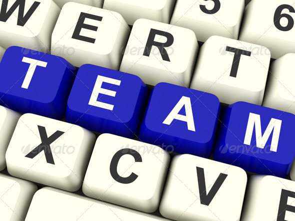 Team Word As Symbol For Teamwork And Partenership - Stock Photo - Images