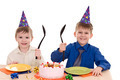 two boy wich cake - PhotoDune Item for Sale