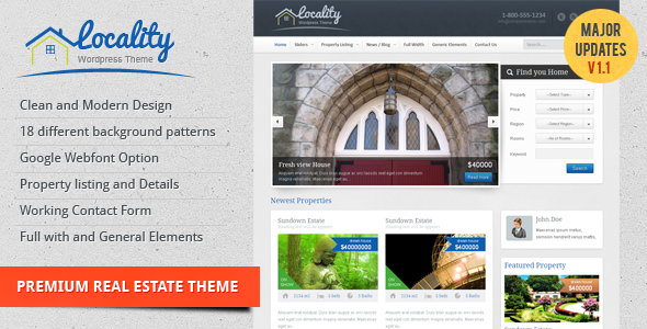 ThemeForest Locality Real Estate Theme Site Templates Creative 1536758