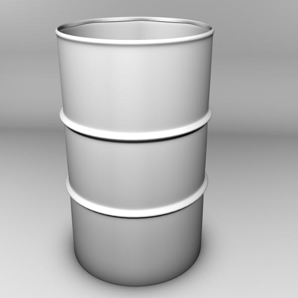 3DOcean Metal Barrel Model 1605173