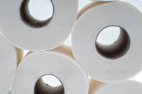 Stack of Toilet Papers - Stock Photo - Images