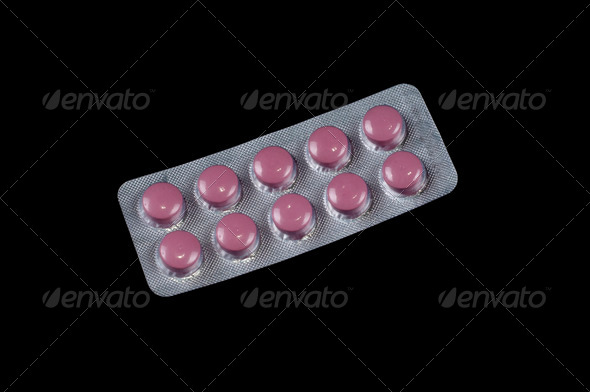Pink vitamin capsule - Stock Photo - Images