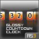 Glossy Countdown Clock (AS3) - ActiveDen Item for Sale