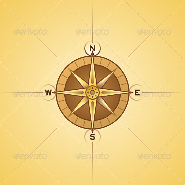 GraphicRiver Nautical Rose Compass 1627188