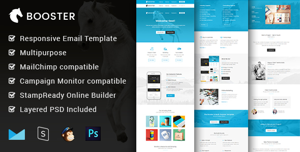 booster multipurpose responsive email template builder by mailway. Black Bedroom Furniture Sets. Home Design Ideas