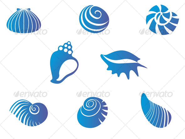 GraphicRiver Set of seashells 63610