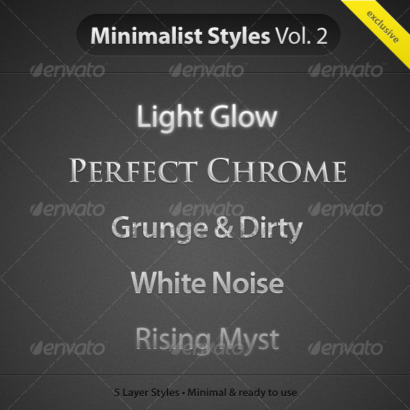 MinimalistStyles Vol.2 - Text Effects Styles