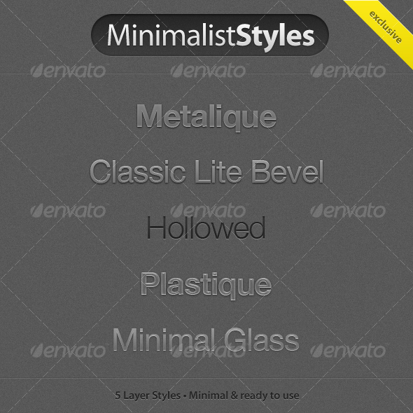 MinimalistStyles - Photoshop Add-ons