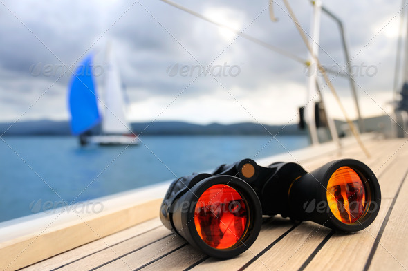 PhotoDune Binocular on the deck of yacht 1633574