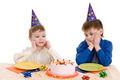 two boy with cake - PhotoDune Item for Sale