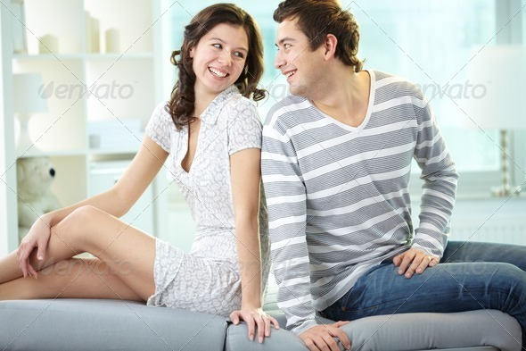 Laughing lovers - Stock Photo - Images