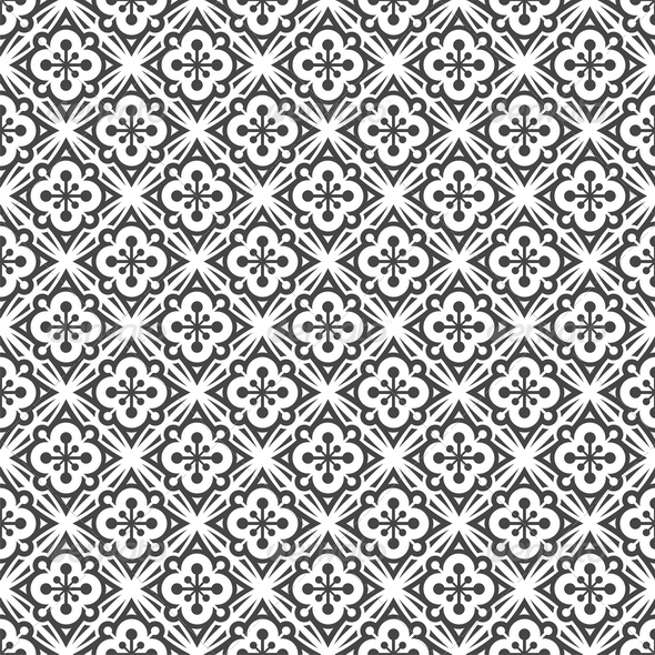 Abstract background – vector seamless black & white pattern.Included ...